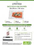 SACS SOUS VIDE GAUFFRES 20 X 30 CM   POCHE DE 50 SACS   LE PRATIQUE