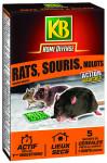 RATS, SOURIS ET MULOTS 5 SACHETS CEREALES 125G KB