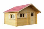 Abri Madriers bois massif / 60 mm / 24,96 m²