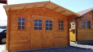Abri Madriers bois massif / 28 mm / 23,32 m²