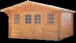 Abri Madriers bois massif / 42 mm / 15,81 m²