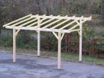 Carport monopente avec préparation pour couverture légère / 3,00 x 3,62 m