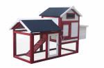 Poulailler standard bi-corps couvert / 0,94 m2 / 2-3 poules / toit bitumé 2 pentes