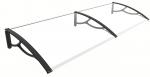 Marquise de porte ou fenêtre dimensions P 80 x L 200 cm / 3 mm