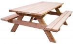 Table forestière MUNICH en douglas longueur 190 cm 6 personnes épaisseur 45 mm