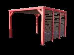 Pergola en bois - 3,41x3,13 m  - 10,67 m²