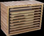 Cache climatiseur extérieur et pompe à chaleur fabriqué en bois massif traité très haute température / 1,32 x 0,58 x H 1,47 m