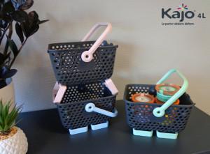 Lot de 3 paniers Kajo 4L Pastel (Bleu Pastel- Rose Pastel - Vert Pastel)