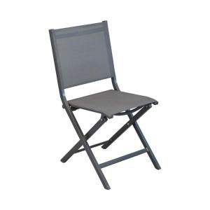 Chaise pliante grise Théma